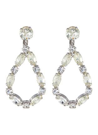 Main View - Click To Enlarge - STAZIA LOREN - Pear shape diamanté drop earrings