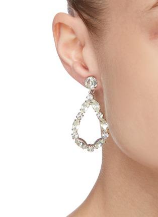 Figure View - Click To Enlarge - STAZIA LOREN - Pear shape diamanté drop earrings