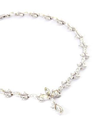 Detail View - Click To Enlarge - STAZIA LOREN - 'Otis' sterling silver diamanté necklace