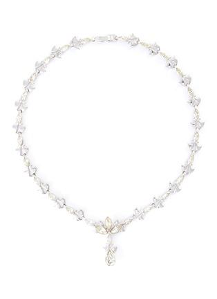 Main View - Click To Enlarge - STAZIA LOREN - 'Otis' sterling silver diamanté necklace
