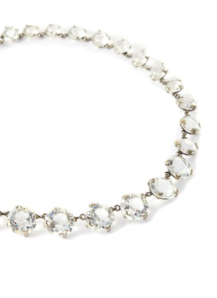 Detail View - Click To Enlarge - STAZIA LOREN - Round-cut crystal necklace