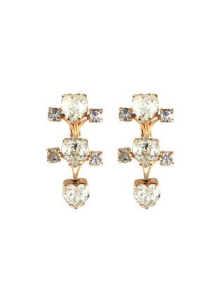 Main View - Click To Enlarge - STAZIA LOREN - Diamanté clip earrings