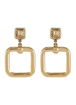 Main View - Click To Enlarge - LANE CRAWFORD VINTAGE ACCESSORIES - St John' square drop earrings
