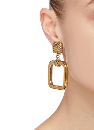 - LANE CRAWFORD VINTAGE ACCESSORIES - St John' square drop earrings