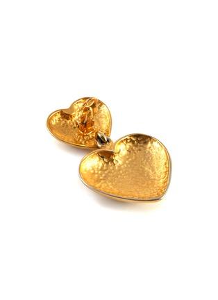 Detail View - Click To Enlarge - STAZIA LOREN - Heart drop 14k gold earrings