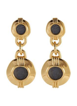 Main View - Click To Enlarge - STAZIA LOREN - 'Carolee' coin face drop earrings