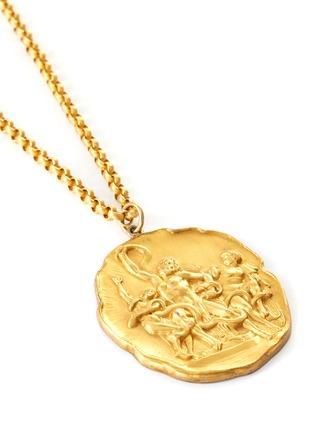 Detail View - Click To Enlarge - LANE CRAWFORD VINTAGE ACCESSORIES - Les Bernard mythological metal plague necklace