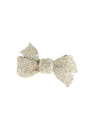 Main View - Click To Enlarge - STAZIA LOREN - Diamanté bow brooch