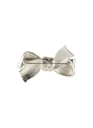 Figure View - Click To Enlarge - STAZIA LOREN - Diamanté bow brooch