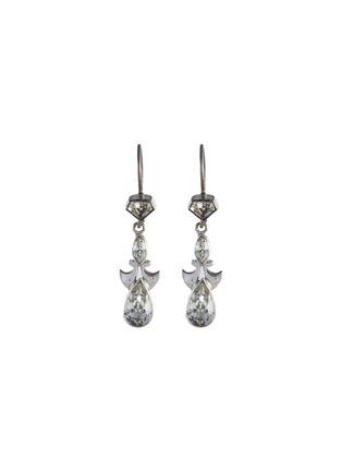 Main View - Click To Enlarge - STAZIA LOREN - 'Otis' diamanté sterling silver drop earrings