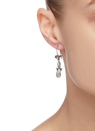 Figure View - Click To Enlarge - STAZIA LOREN - 'Otis' diamanté sterling silver drop earrings