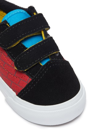Detail View - Click To Enlarge - VANS - El Barto canvas velcro strap toddler sneakers
