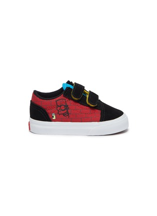Main View - Click To Enlarge - VANS - El Barto canvas velcro strap toddler sneakers