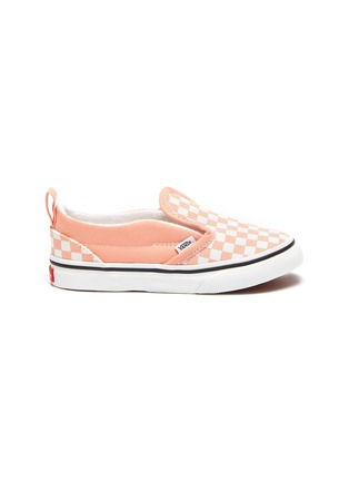 Main View - Click To Enlarge - VANS - Checkerboard print slip on toddler sneakers