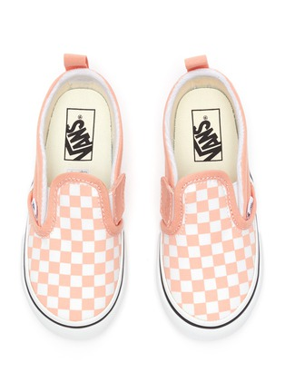 Figure View - Click To Enlarge - VANS - Checkerboard print slip on toddler sneakers