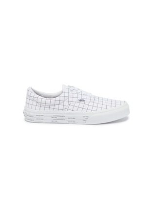 Main View - Click To Enlarge - VANS - Era check print lace up canvas kids sneakers