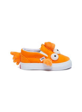 Main View - Click To Enlarge - VANS - Mutated fish slip-on velcro strap velvet toddler sneakers