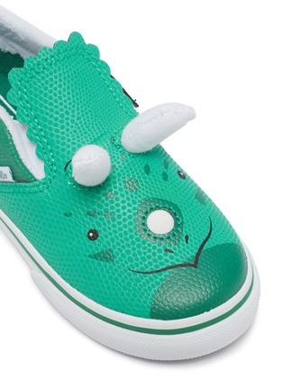 Detail View - Click To Enlarge - VANS - Triceratops slip on leather kids sneakers