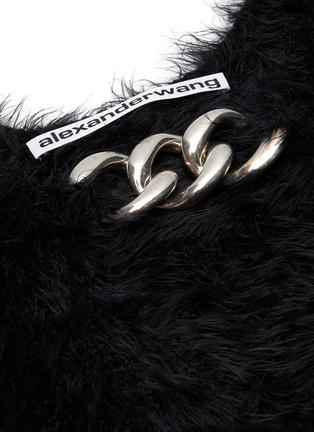 - ALEXANDER WANG - Chain embellished V-neck short sleeve sweater
