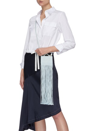 Back View - Click To Enlarge - STRATHBERRY - x Xu Zhi Miniature Fringe Tote