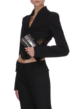 Figure View - Click To Enlarge - JIMMY CHOO - Sweetie' degrade glitter acrylic clutch