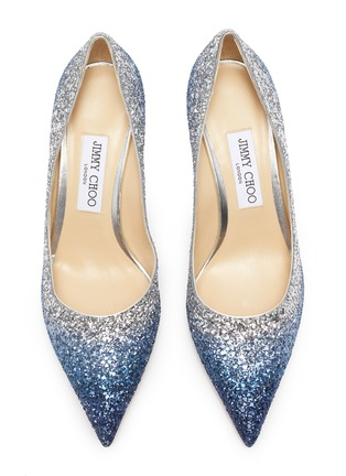 Detail View - Click To Enlarge - JIMMY CHOO - 'Love 65' gradient glitter pumps