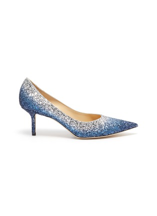 Main View - Click To Enlarge - JIMMY CHOO - 'Love 65' gradient glitter pumps