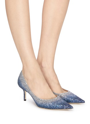 Figure View - Click To Enlarge - JIMMY CHOO - 'Love 65' gradient glitter pumps