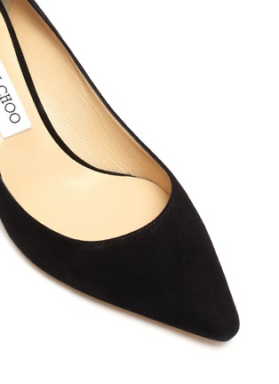 Detail View - Click To Enlarge - JIMMY CHOO - Romy 60' point toe suede leather pumps