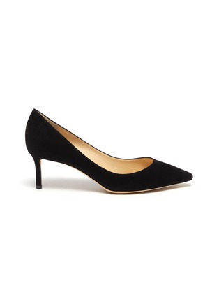 Main View - Click To Enlarge - JIMMY CHOO - Romy 60' point toe suede leather pumps