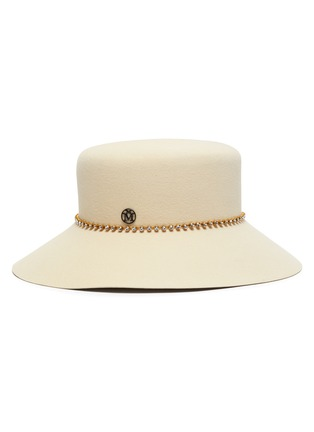 Main View - Click To Enlarge - MAISON MICHEL - Kendall strass chain felt bucket hat