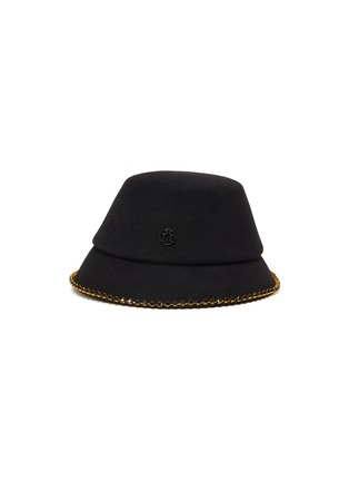 Main View - Click To Enlarge - MAISON MICHEL - 'Souna' strass embellished chain felt bucket hat