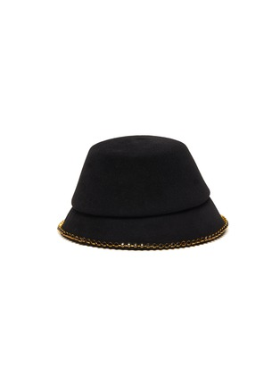 Figure View - Click To Enlarge - MAISON MICHEL - 'Souna' strass embellished chain felt bucket hat