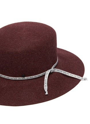 Detail View - Click To Enlarge - MAISON MICHEL - 'New Kendall' logo ribbon rabbit felt hat
