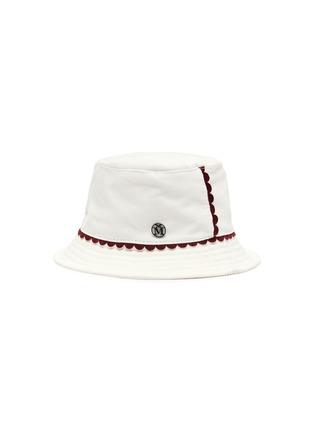Main View - Click To Enlarge - MAISON MICHEL - 'Jason' scallop trim corduroy bucket hat