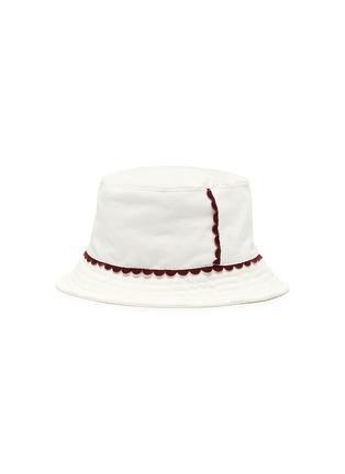 Figure View - Click To Enlarge - MAISON MICHEL - 'Jason' scallop trim corduroy bucket hat