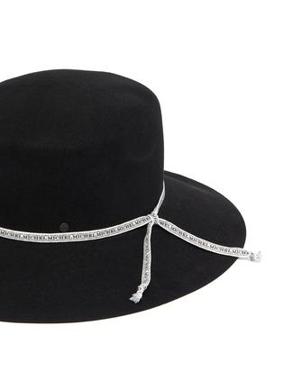 Detail View - Click To Enlarge - MAISON MICHEL - New Kendall logo ribbon rabbit felt hat