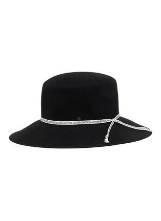 Main View - Click To Enlarge - MAISON MICHEL - New Kendall logo ribbon rabbit felt hat