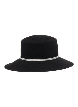 Figure View - Click To Enlarge - MAISON MICHEL - New Kendall logo ribbon rabbit felt hat