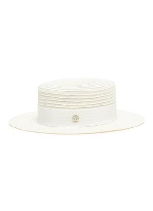 Main View - Click To Enlarge - MAISON MICHEL - Kiki ribbon straw hat