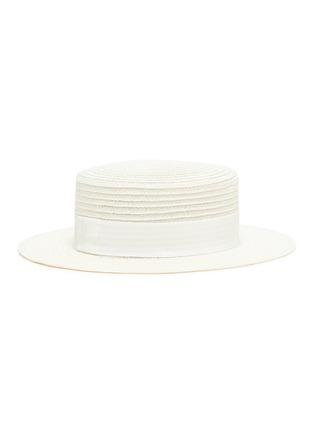 Figure View - Click To Enlarge - MAISON MICHEL - Kiki ribbon straw hat