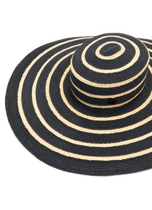 Detail View - Click To Enlarge - MAISON MICHEL - 'Ursula' mix straw wide brim hat
