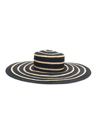 Main View - Click To Enlarge - MAISON MICHEL - 'Ursula' mix straw wide brim hat