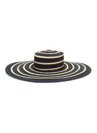 Figure View - Click To Enlarge - MAISON MICHEL - 'Ursula' mix straw wide brim hat