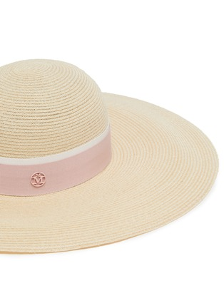 Detail View - Click To Enlarge - MAISON MICHEL - Blanche ribbon wide brim straw hat