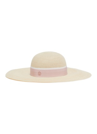 Main View - Click To Enlarge - MAISON MICHEL - Blanche ribbon wide brim straw hat
