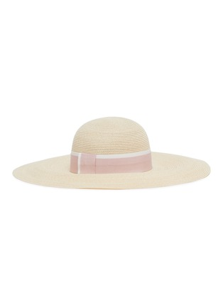 Figure View - Click To Enlarge - MAISON MICHEL - Blanche ribbon wide brim straw hat