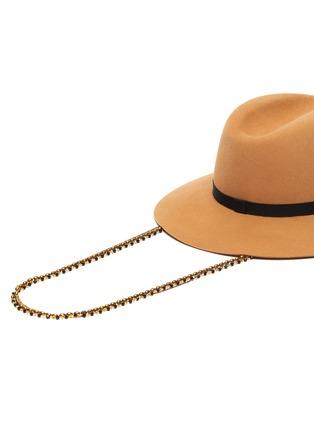 Detail View - Click To Enlarge - MAISON MICHEL - Henrietta chain ribbon embellished felt fedora hat
