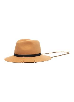 Main View - Click To Enlarge - MAISON MICHEL - Henrietta chain ribbon embellished felt fedora hat
