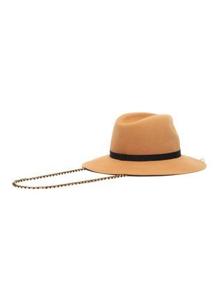 Figure View - Click To Enlarge - MAISON MICHEL - Henrietta chain ribbon embellished felt fedora hat